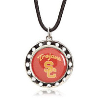 USC Crystal Circle Necklace