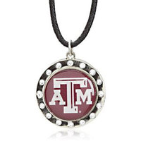 Texas A&M Crystal Circle Necklace