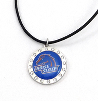 Boise Crystal Circle Necklace
