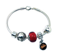 Baltimore Orioles Baseball Bead Bracelet (Nm)