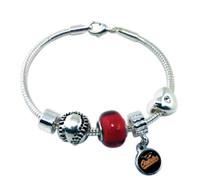 Baltimore Orioles Baseball Bead Bracelet (Nm)
