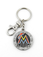 Miami Marlins Impact Key Ring