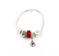 Atlanta Falcons Football Red Bead Bracelet