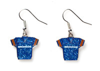 Denver Broncos Jersey Glitter Dangler Earrings