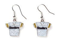 Pittsburgh Steelers Jersey Glitter Dangler Earrings