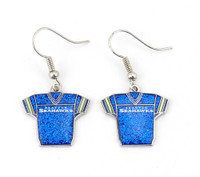 Seattle Seahawks Jersey Glitter Dangler Earrings