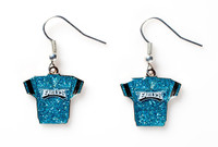Philadelphia Eagles Jersey Glitter Dangler Earrings