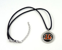 Cincinnati Bengals Crystal Circle Necklace