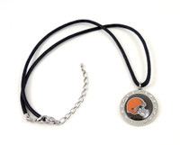 Cleveland Browns Crystal Circle Necklace