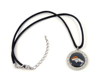 Denver Broncos Crystal Circle Necklace