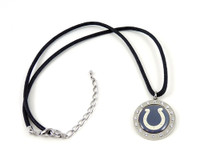 Indianapolis Colts Crystal Circle Necklace