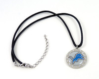 Detroit Lions Crystal Circle Necklace