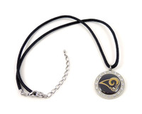 St. Louis Rams Crystal Circle Necklace