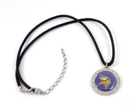 Minnesota Vikings Crystal Circle Necklace