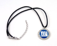 New York Giants Crystal Circle Necklace