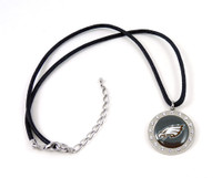 Philadelphia Eagles Crystal Circle Necklace