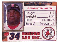 David Ortiz Photo ID Pin
