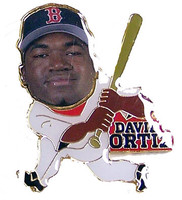 David Ortiz Photo Action Pin
