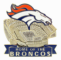 Denver Broncos Sports Authority at Mile High Stadium Pin
