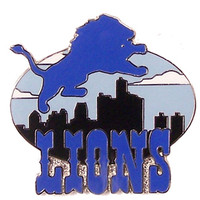 Detroit Lions Skyline Lapel Pin