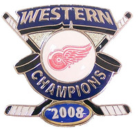 Detroit Red Wings 2008 Western Conference Champs Pin