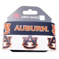 Auburn Wide Wristbands (2 Pack)