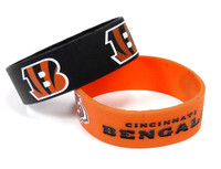 Cincinnati Bengals Wide Wristbands (2 Pack)