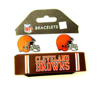 Cleveland Browns Wide Wristbands (2 Pack)