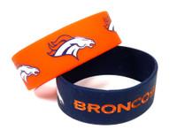 Denver Broncos Wide Wristbands (2 Pack)