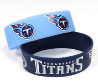 Tennessee Titans Wide Wristbands (2 Pack)