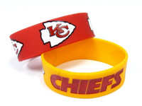 Kansas City Chiefs Wide Wristbands (2 Pack)