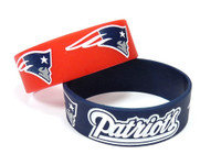New England Patriots Wide Wristbands (2 Pack)