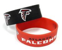 Atlanta Falcons Wide Wristbands (2 Pack)