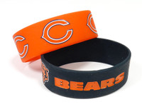 Chicago Bears Wide Wristbands (2 Pack)