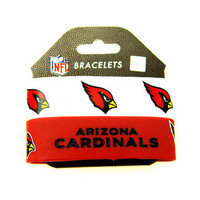 Arizona Cardinals Wide Wristbands (2 Pack)
