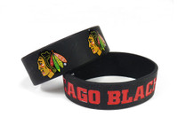 Chicago Blackhawks Wide Wristbands (2 Pack)