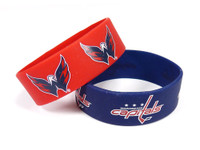 Washington Capitals Wide Wristbands (2 Pack)