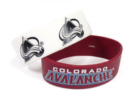Colorado Avalanche Wide Wristbands (2 Pack)