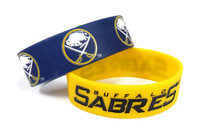 Buffalo Sabres Wide Wristbands (2 Pack)