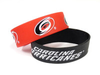 Carolina Hurricanes Wide Wristbands (2 Pack)