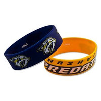 Nashville Predators Wide Wristbands (2 Pack)