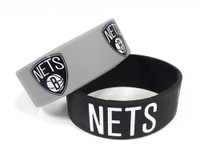 Brooklyn Nets Wide Wristbands (2 Pack)