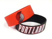 Portland Trail Blazers Wide Wristbands (2 Pack)