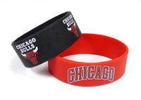 Chicago Bulls Wide Wristbands (2 Pack)