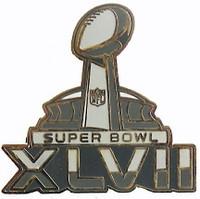 Super Bowl XLVII (47) Logo Pin