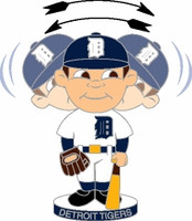 Detroit Tigers Bobble Head Pin