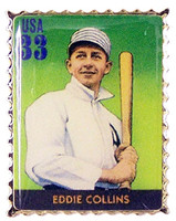 Eddie Collins Stamp Pin