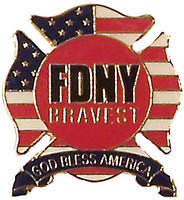 FDNY Bravest - God Bless America Pin