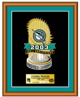 Florida Marlins World Series Champs Framed Trophy Pin - 2,003