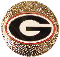 Georgia Bulldogs 3-D Basketball Pin